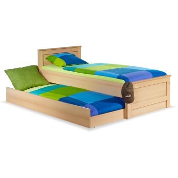 Dětská postel s přistýlkou 90x200 B18-BOLZANO, buk-bříza-olše