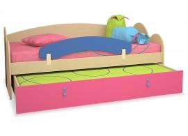 Dětská postel s přistýlkou 90x200 MIA-45