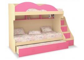 Patrová postel-sestava pro tři děti MIA