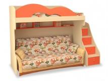 Dětská patrová postel - horní spaní MIA-003
