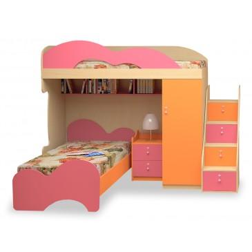 Dětská patrová postel elko MIA-002