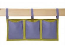 Textilní kapsy na postel MONTERO-15, zeleno-modrá