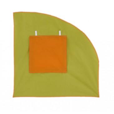 Čelo pravé k tunelu MONTERO-07, zeleno-oranžová