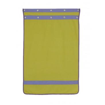 Záclonka pod zvýšenou postel MONTERO-10, zeleno-modrá