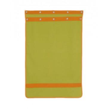 Záclonka pod zvýšenou postel MONTERO-10, zeleno-oranžová