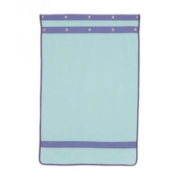 Záclonka pod zvýšenou postel MONTERO-10, světle zelená-modrá