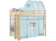 Patrová postel - horní spaní KALIMERO-342/SZM, masiv smrk
