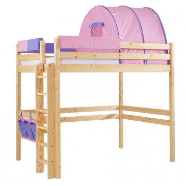 Patrová postel - horní spaní KALIMERO-342A/RM, masiv smrk