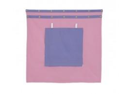 Záclonka pod zvýšenou postel MONTERO-11, růžovo-modrá