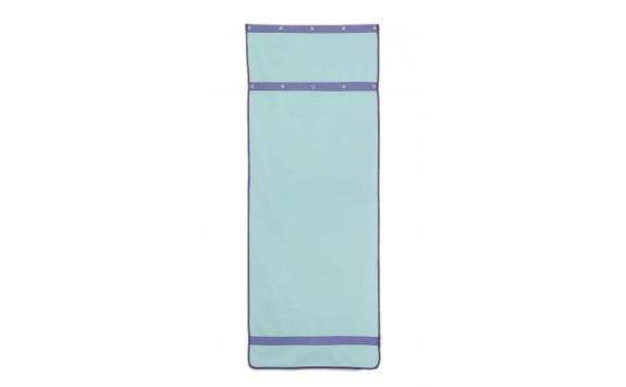 Záclonka pod patrovou postel MONTERO-12, světle zelená-modrá
