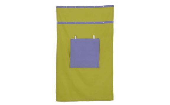 Záclonka pod patrovou postel MONTERO-13, zeleno-modrá