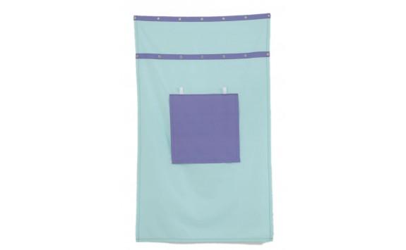Záclonka pod patrovou postel MONTERO-13, světle zelená-modrá
