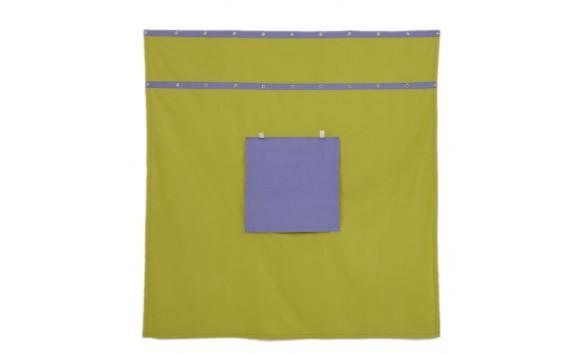 Záclonka pod patrovou postel MONTERO-14, zeleno-modrá