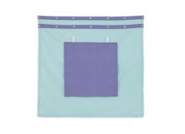 Záclonka pod zvýšenou postel MONTERO-11, světle zelená-modrá