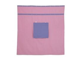 Záclonka pod patrovou postel MONTERO-14, růžovo-modrá