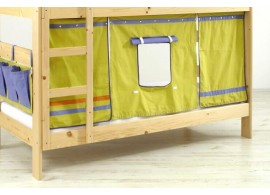 Domeček pod vyvýšenou postel MONTERO-1011, zeleno-modrá