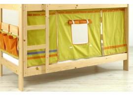 Domeček pod vyvýšenou postel MONTERO-1011, zeleno-oranžová