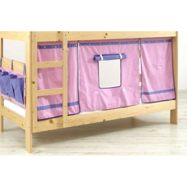 Domeček pod vyvýšenou postel MONTERO-1011, růžovo-modrá