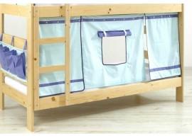 Domeček pod vyvýšenou postel MONTERO-1011, světle zelená-modrá