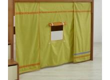 Domeček pod patrovou postel MONTERO-1213, zeleno-oranžová