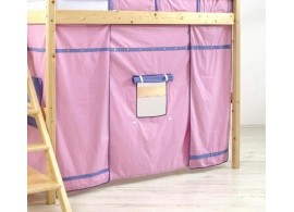 Domeček pod patrovou postel MONTERO-1213, růžovo-modrá