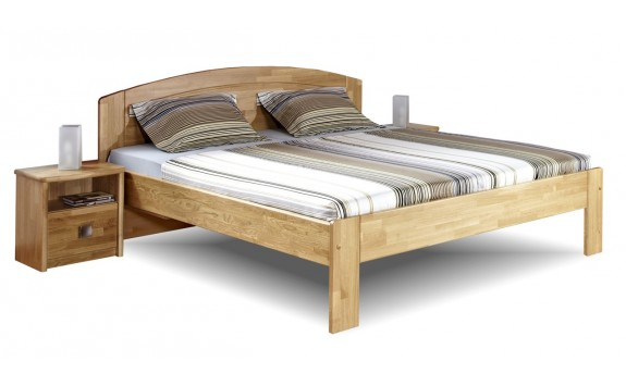Zvýšená postel PAVLA B, 160x200, 180x200, masiv dub