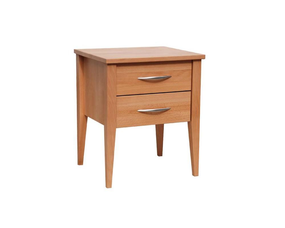 Noční stolek NAKO 2, masiv buk