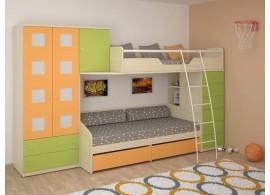 Dětská patrová postelová sestava-dětský pokoj NX-01-Next