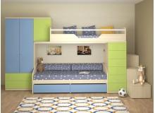 Dětská patrová postelová sestava-dětský pokoj NX-03-Next
