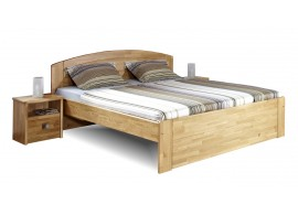 Zvýšená postel PAVLA A, 160x200, 180x200, masiv dub