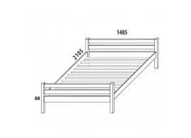 Dětská postel DOMINO 140x200 D904/BC, masiv buk