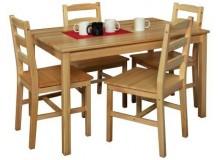 Dřevěný jídelní stůl z masivu IA7848, 118x75, masiv borovice, nelakovaný