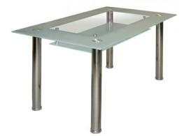 Jídelní stůl IA3007, kov/sklo, 150x90 cm