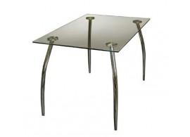 Skleněný jídelní stůl IA3015, 110x70, kombinace kov-sklo