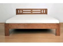 Zvýšená postel z masivu - dvoulůžko RIA - NOVINKA, masiv buk jádrový, 160x200, 180x200