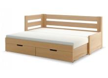 Rozkládací postel s úložným prostorem FLEXI A, levá, lamino