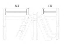 Zábrana C D916/BC - Domino, masiv buk