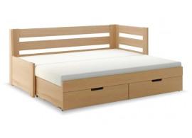 Rozkládací postel s úložným prostorem FLEXI A, pravá, lamino