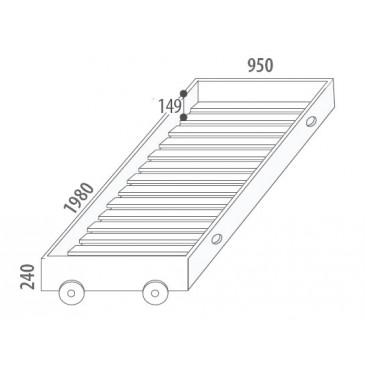 Úložný prostor - přistýlka D946/BC-Domino, masiv buk