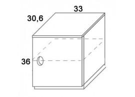 Skříň dvířková D302/BC-Domino, masiv buk