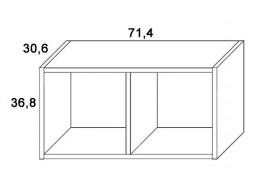 Skříň závěsná-2 D318/BC-Domino, masiv buk