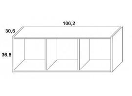 Skříň závěsná-3 D319/BC-Domino, masiv buk