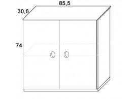 Skříň k patrové posteli dvířková D312/BC-Domino, masiv buk