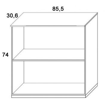 Skříň k patrové posteli D311/BC-Domino, masiv buk
