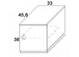 Skříň dvířková D402/BC-Domino, masiv buk