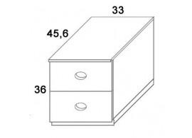 Skříň zásuvková D403/BC-Domino, masiv buk