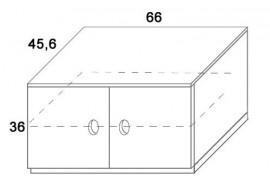 Skříň 2-dvířková D410/BC-Domino, masiv buk