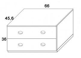 Skříň 2-zásuvková D411/BC-Domino, masiv buk