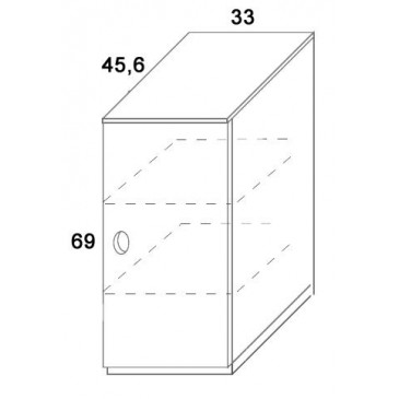 Skříň dvířková D405/BC-Domino, masiv buk
