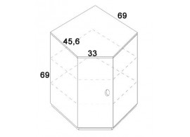 Skříň rohová D418/BC-Domino, masiv buk
